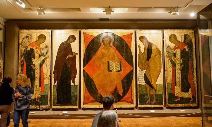 Иконы «Деисусный чин» Третьяковки Москвы