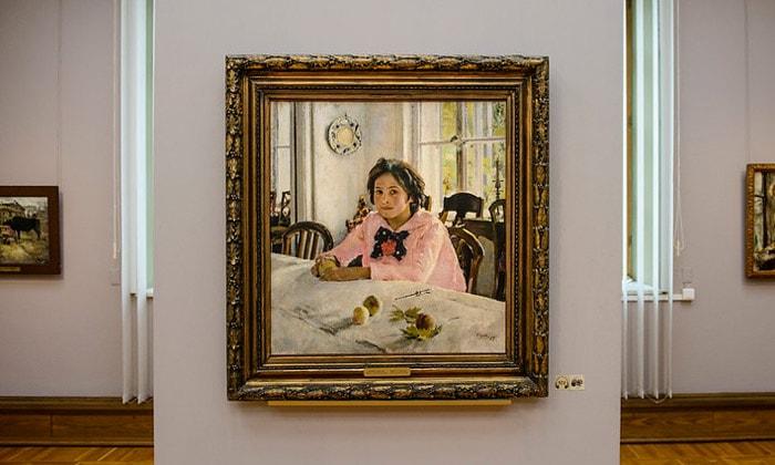 Картина «Девочка с персиками» Третьяковской галереи Москвы