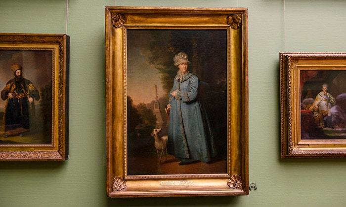 Картина «Екатерина II на прогулке в Царскосельском парке» Третьяковки Москвы