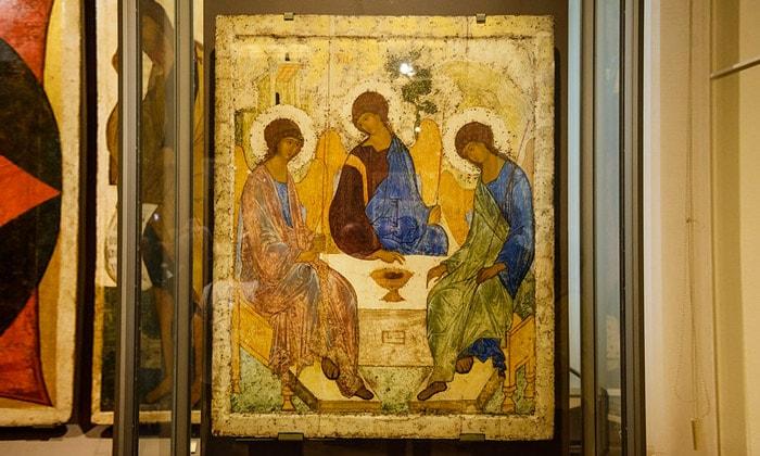 Икона «Троица» Третьяковки Москвы