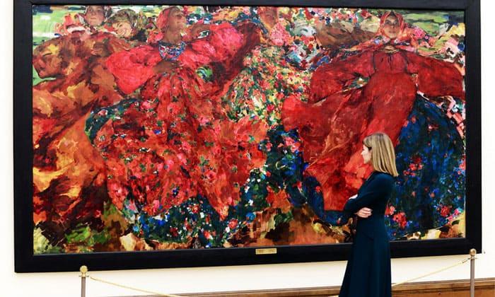 Картина «Вихрь» Третьяковской галереи Москвы
