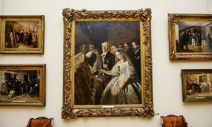 Картина «Неравный брак» Третьяковской галереи Москвы