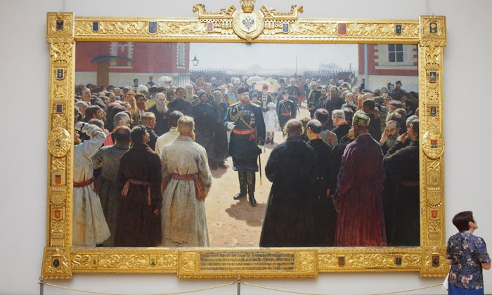 Картина «Приём старшин Александром III» Третьяковки Москвы