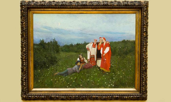 Картина «Северная идиллия» Третьяковки Москвы