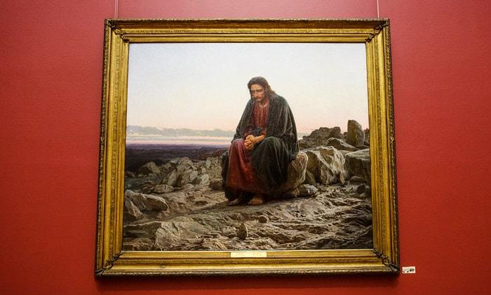 Картина «Христос в пустыне» Третьяковской галереи Москвы