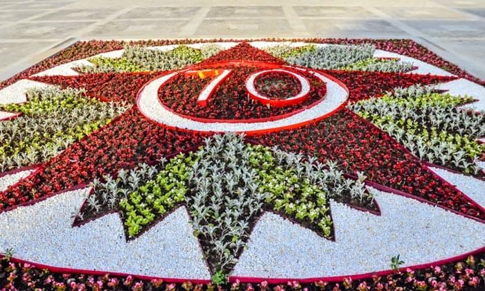 Цветник «70 лет Великой Победы» в Москве