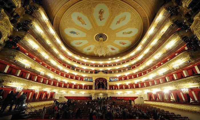 Зрительный зал Большого театра Москвы
