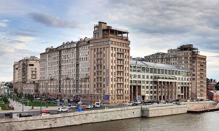 Дом на набережной Замоскворечья Москвы
