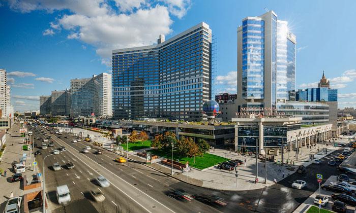 Панорама Нового Арбата Москвы
