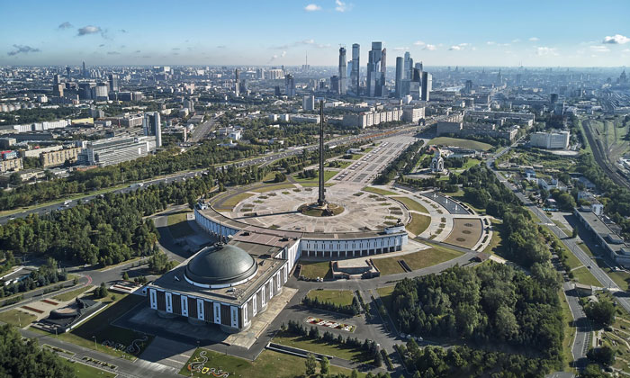 Панорама парка Победы в Москве