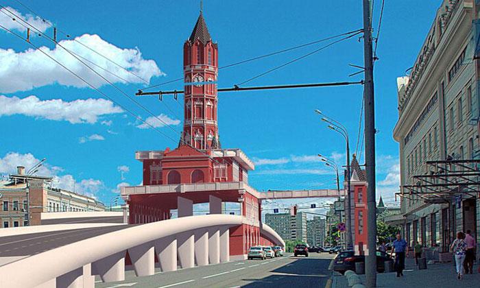 Проект Сухаревой башни в Москве