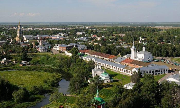 Панорама города Суздаль