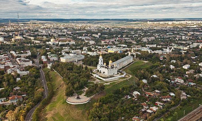 Панорама города Владимир