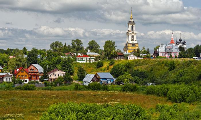Живописная Суздаль в России