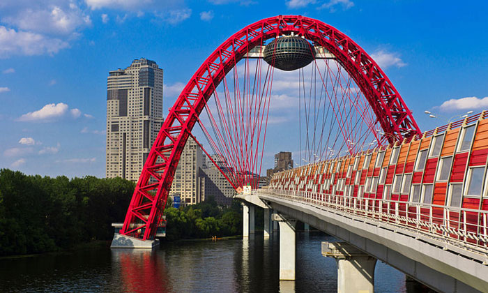 Мост в Серебряном Бору Москвы