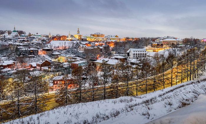 Город Владимир зимой в России