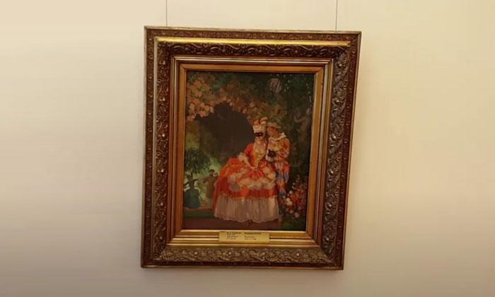 Картина «Арлекин и дама» в Русском музее