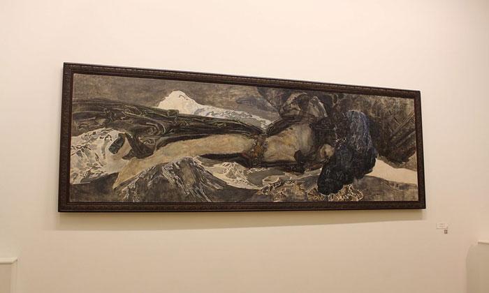 Картина «Демон летящий» в Русском музее