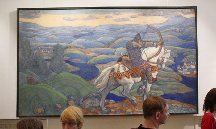 Картина «Илья Муромец» в Русском музее