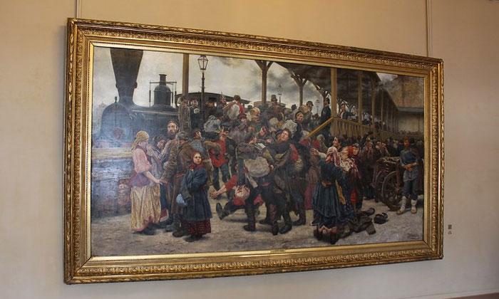 Картина «На войну» в Русском музее