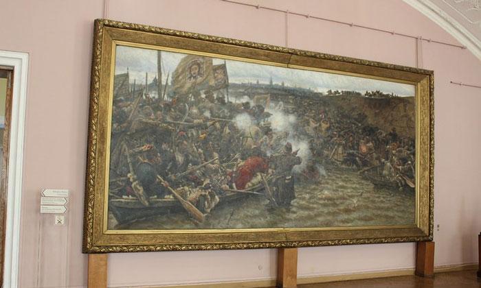 Картина «Покорение Сибири» в Русском музее