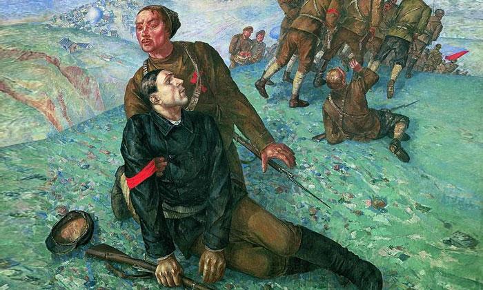 Картина «Смерть комиссара» в Русском музее
