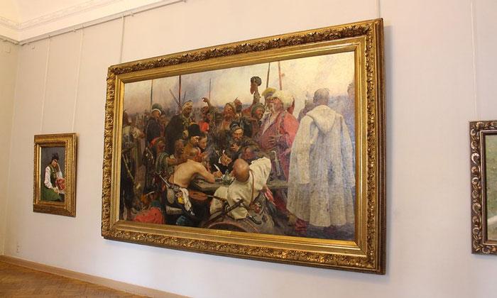 Картина «Запорожцы» в Русском музее