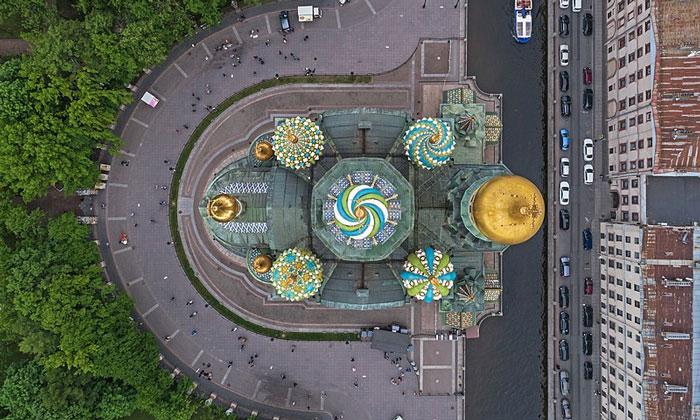 Панорама храма Спаса на Крови в Санкт-Петербурге