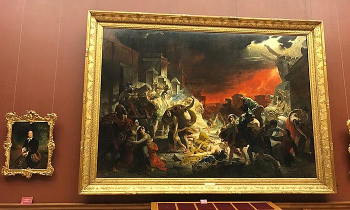 Картина «Последний день Помпеи» в Русском музее