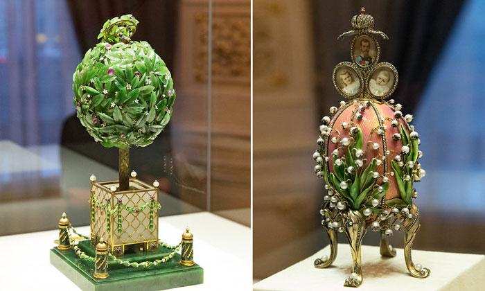 Яйца «Лавровое дерево» и «Ландыши» в Санкт-Петербурге