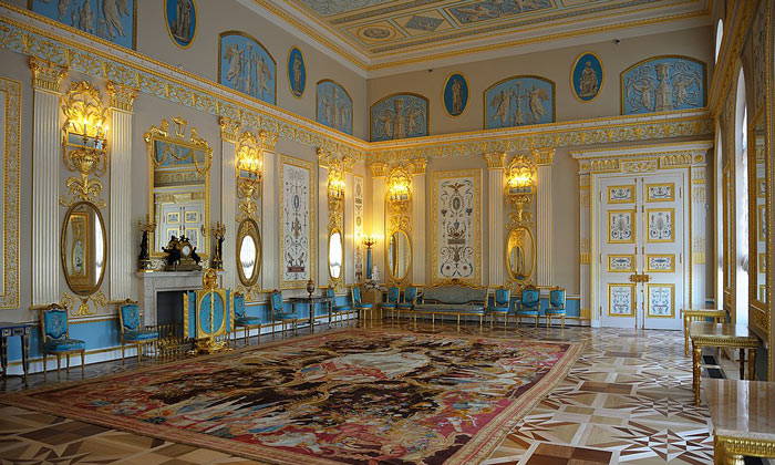 Арабесковый зал в Екатерининском дворце
