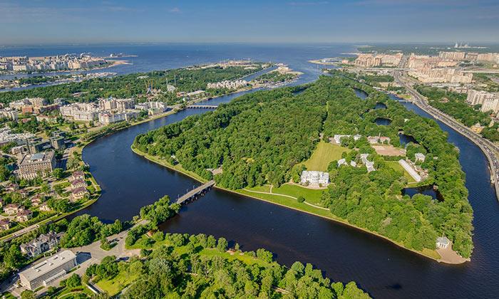Кировские острова (Елагин остров) в Санкт-Петербурге