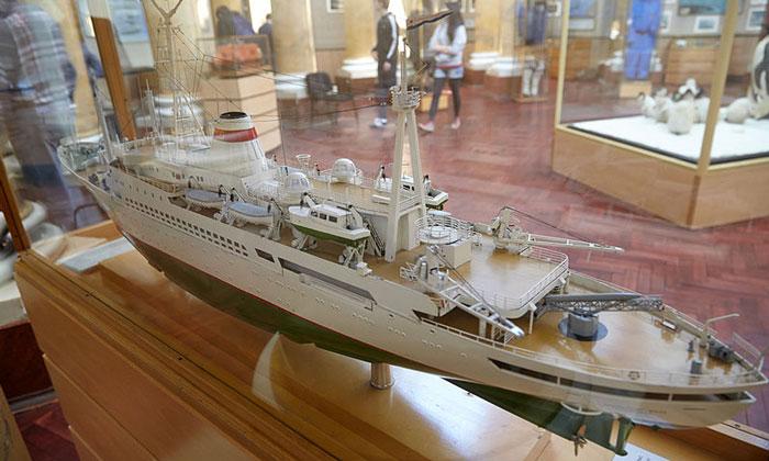 Модель судна «Профессор Визе» в Санкт-Петербурге