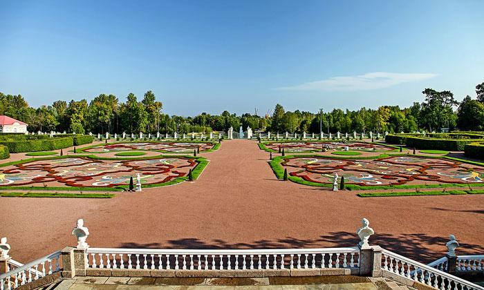Нижний (парк) сад в Ораниенбауме
