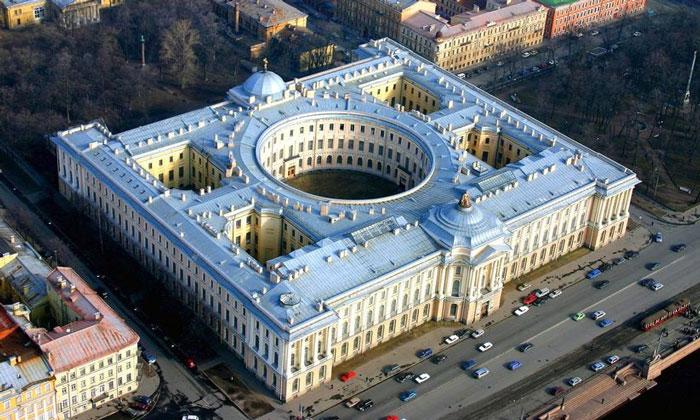 Панорама Академии художеств в Санкт-Петербурге