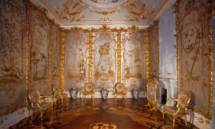 Стеклярусный кабинет Китайского дворца Ораниенбаума