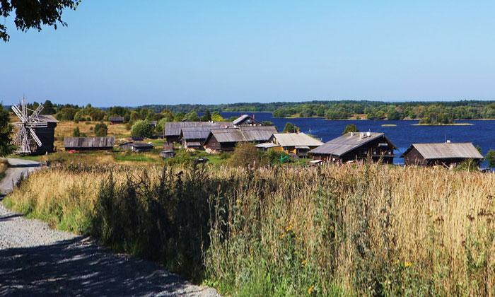 Кижская деревня