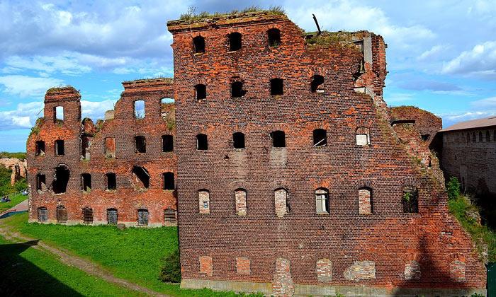 Остатки тюремного корпуса Шлиссельбурга