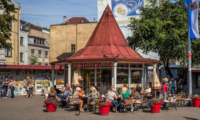 Кафе «Konditoreja» в Риге