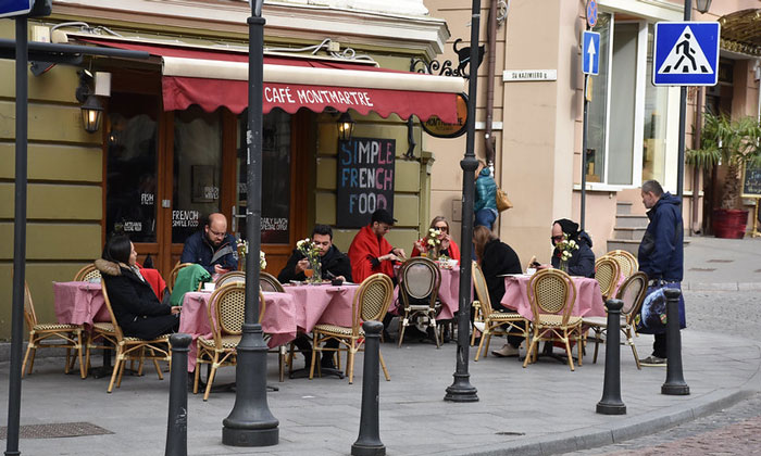 Кафе «Montmartre» в Вильнюсе