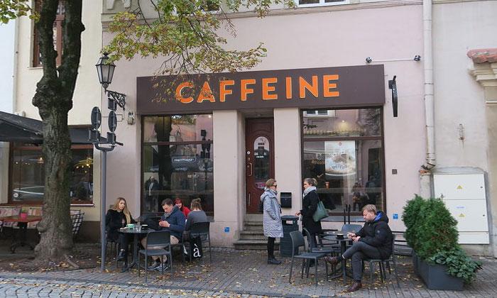 Кафе «Caffeine» в Вильнюсе