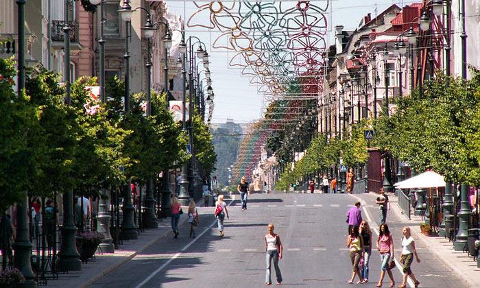 Проспект Гедимина в Вильнюсе
