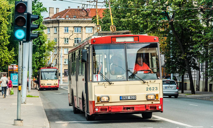 Старые троллейбусы (Вильнюс)