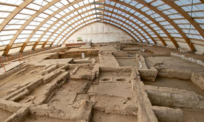 Северная часть раскопок Чаталхёюк в Турции