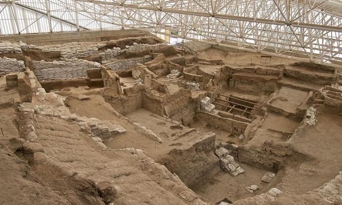 Южная часть раскопок Чаталхёюк в Турции